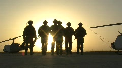 Special Forces Soldiers Crossing Airfield (HD) m Stock Footage