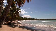 Las Terrenas Beach and Surf Stock Footage