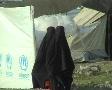Women in Burqa UNHCR Refugee Camp; Swat, Pakistan Footage