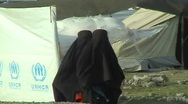 Stock Video Footage of Women in Burqa UNHCR Refugee Camp; Swat, Pakistan