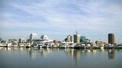 Norfolk Virginia harbor Stock Footage