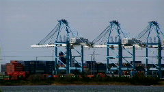 Norfolk port time lapse Stock Footage