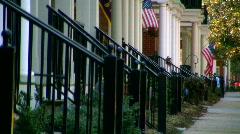 Patriotic sidewalk Stock Footage