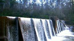 small dam - stock footage
