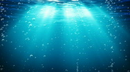 Under Water With Bubbles. Blue. Loopable Stock Footage