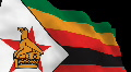 Flag B117 ZWE Zimbabwe HD Footage