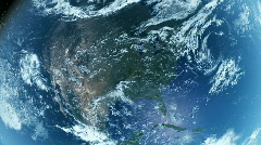 North America From Space. Day Stock Footage