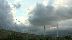 Wind Turbine Propeller Time Lapse Stock Footage
