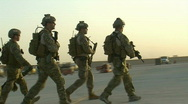 Special Ops Soldiers leave on mission c Stock Footage