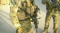 Special Operations Soldiers prepare for mission (HD) c Stock Footage