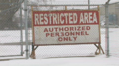 Restricted area. 2 shots. Stock Footage