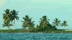Tropical Island at Las Terrenas, Dominican Republic Stock Footage