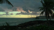 Stock Video Footage of Las Galeras Sunrise