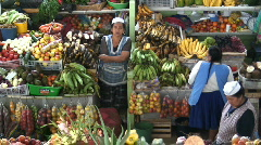 Quito, Fruit and vegetable  Market Ecuador Stock Footage