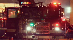 Fire truck pan left to cleanup Stock Footage