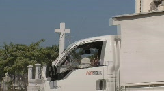Destroyed church in Haiti (HD) c - stock footage