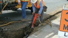 Construction , jackhammer Stock Footage