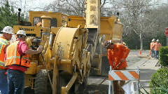trenching for cable tv - stock footage