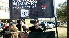 Coca Cola Zero Promotion at endymion parade Stock Footage