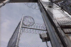 prison gates 01 - stock footage