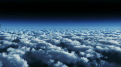 CloudFly Night MidA Stock Footage