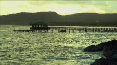 Las Galeras, Dominican Republic Pier at Sunrise Stock Footage