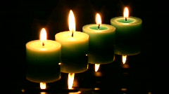 green candle   Full HD 1080p - stock footage