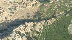 Aerial view of Afghan village Stock Footage