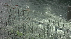 Vid090 river dam power plant Stock Footage