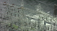Stock Video Footage of vid090 river dam power plant