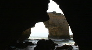 Stock Video Footage of Mediterranean Sea Cave