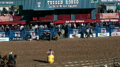 Rodeo Bull Riding Arena Stock Footage