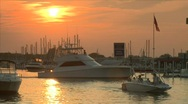 Boating sunset Stock Footage