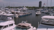 Stock Video Footage of Boat in marina