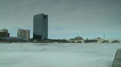 Toledo Ohio winter - stock footage