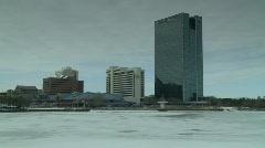 Toledo Ohio winter 2 Stock Footage