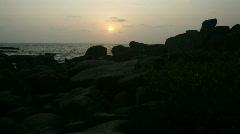 Goan sunset time lapse 01 hdtv Stock Footage
