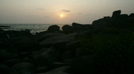 Goan sunset time lapse 01 hdtv Stock Footage