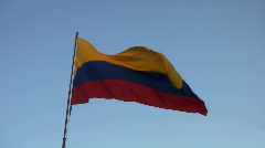 Colombian flag 02 Stock Footage