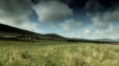 Irish field and countryside - stock footage