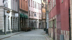 Stockholm old town street - stock footage
