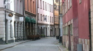 Stock Video Footage of Stockholm old town street