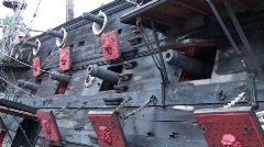 Pirate's Ship Cannon - stock footage