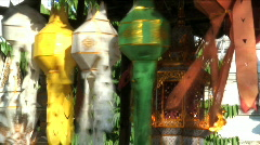Coloured Paper Lanterns, Thailand Asia Stock Footage