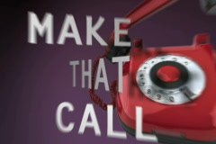 Make That Call Stock Footage