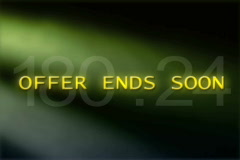 Offer Ends Soon Stock Footage