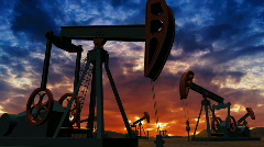Stock Video Footage of Oil pumps