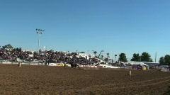 Rodeo Barrel Racing Stock Footage