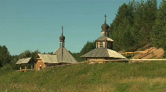 RUSSIAN CHURCH IN FOREST Stock Footage