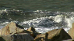 Waves Crushing in Marina di Pisa Stock Footage
